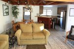 Snowflower 5 Mammoth Condo Rental - Open Area Living Room to Kitchen and Loft Stairs