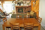 Mammoth Vacation Rental Snowflower 5: Open Floor Plan Dining Room ,Living Room