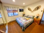 Mammoth Condo Rental Snowflower 13 - 2nd Bedroom Has Flat Screen TV