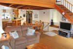 Mammoth Rental Snowflower 13 - Dining Area and Kitchen