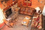 Mammoth Condo Rental Snowflower 45 - Living Room View From The Loft