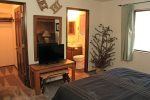 Mammoth Vacation Rental Snowflower 45 - Master Bedroom with Flat Screen TV