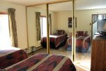 Mammoth Vacation Rental Snowflower 45- Second Bedroom has a Large Closet with Mirrored Doors