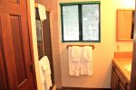 Mammoth Vacation Rental Snowflower 45- Third Bathroom off the Living Room