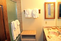 Mammoth Vacation Rental Snowflower 45 - Loft Has 4 Twin Beds and a flat screen TV
