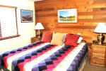 Mammoth Lakes Vacation Rental Snowflower 53 - Master Bedroom has 1 Tempur-Pedic King Bed