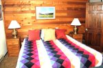 Mammoth Condo Rental Snowflower 53 - Master Bedroom has 1 Flat Screen TV and Private Bath