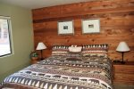 Mammoth Lakes Condo Rental Snowflower 73 - Master Bedroom has a King Bed
