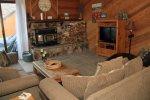 Mammoth Condo Rental Snowflower 73 - Comfortable Living Room with Flat Screen TV
