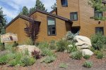 Welcome Entrance to Wildflower and Check-In Office for your Mammoth Lakes Vacation