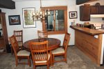 Mammoth Lakes Rental Wildflower 67 - Dining Table, 2 Extra Chairs Available