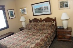 Mammoth Lakes Rental Wildflower 7 - Master Bedroom with 1 Queen Bed
