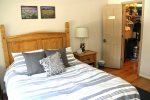 Mammoth Lakes Vacation Rental Wildflower 50 - Master Bedroom with 1 Queen Bed