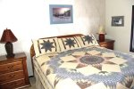 Mammoth Lakes Rental Wildflower 18 - Master Bedroom has 1 King Bed