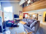 Mammoth Lakes Rental Wildflower 36 - View of Living Room from the Loft