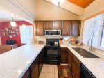 Mammoth Lakes Rental Wildflower 36 - Master Bedroom with King Bed and new Artwork