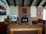 Mammoth Condo Rental Chamonix- Rec Room with Fireplace