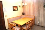 Mammoth Vacation Rental Chamonix 45 -Cozy Dining Area Seats Five