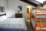 Mammoth Lakes Vacation Rental Chamonix A12 - Loft - 1 Queen Bed and 1 Set of Bunkbeds