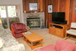 Mammoth Condo Rental Chamonix 16 - LR with Queen Sofa Sleeper and Flat Screen TV