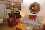 Mammoth Condo Rental Chamonix 16 - Living Room and Kitchen