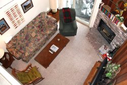 Mammoth Condo Rental Chamonix 28 - LR has a large Flat Screen TV