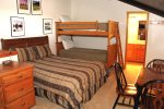 Mammoth Vacation Rental Chamonix 40 - Private Loft - 1 Queen, 1 Set of Bunkbeds and Game Table