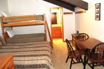 Mammoth Rental Chamonix 40 - Private Loft with 1 Queen Bed, 1 Set of Bunk Beds, Game Table and Loft Bathroom