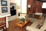 Mammoth Condo Rental Chamonix 21 - Family Room with Flat Screen TV and Wet Bar