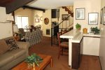 Mammoth Condo Rental Chamonix 21 - Family Room Wet Bar and Large Flat Screen and BluRay Player