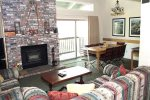 Mammoth Condo Rental Chamonix 86 - Living Room with Open Concept to Dining Room