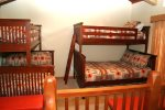 Mammoth Lakes Vacation Rental Chamonix 95 -  Loft has 2 sets of Bunk Beds and 1 Twin pull-out Bed under Bunk