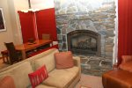Mammoth Condo Rental Chamonix 95 - Living Room has a Propane Fireplace
