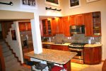 Mammoth Rental Chamonix 95 - Fully Equipped Upgraded Kitchen with Island and Additional Seating