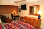 Mammoth Rental Chamonix 95 -  Master Bedroom with Queen Bed and Flat Screen TV