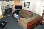 Mammoth Condo Rental Chamonix 99 - Living Room Has Large Flat Screen TV and Fireplace