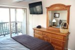 Mammoth Lakes Vacation Rental Chamonix 99 - 1st Floor Master Bedroom with Queen Bed and Flat Screen TV