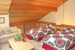 Mammoth Vacation Rental Snowcreek 628 - 2nd Story Loft has 2 Twin Beds and a Sofa