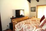 Mammoth Lakes Vacation Rental Wildflower 16 - Master bedroom has 1 Flat Screen TV