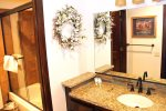 Mammoth Vacation Rental Wildflower 16 - Downstairs Upgraded Bathroom