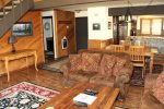 Mammoth Lakes Condo Rental Wildflower 16 - Entry, Living Room, Dining Room and Kitchen