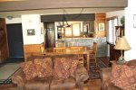 Mammoth Lakes Condo Rental Wildflower 16 - Living Room, Dining Room and Kitchen