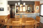 Mammoth Lakes Vacation Rental Wildflower 16 - Dining Room towards Kitchen
