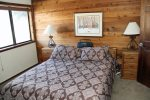 Mammoth Lakes Vacation Rental Snowflower 15 - Master Bedroom has a Queen Bed and Adjoining Bath