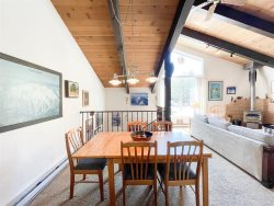 Mammoth Condo Rental Chateau Blanc 30 - Kitchen Area Opens to the Dining Room
