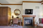 Get cozy by the fireplace after experiencing all the fun at Spruce Peak Village