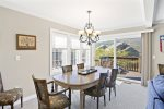 Dining table seats 10, with Mountain Views