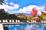 Take in the views of Mt. Mansfield from the pool at Topnotch