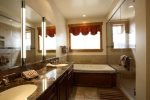 Master bathroom - Entry level with Jason/Jacuzzi tub and separate shower