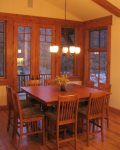 Dining area with spectacular views of Mt. Mansfield